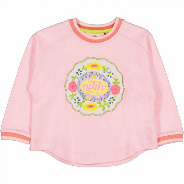 Girls Home Pink Logo Sweat