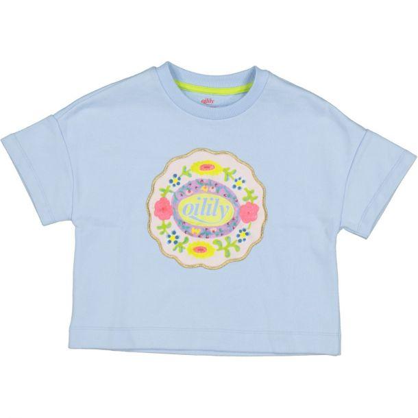 Girls Hussel Blue Logo Sweat