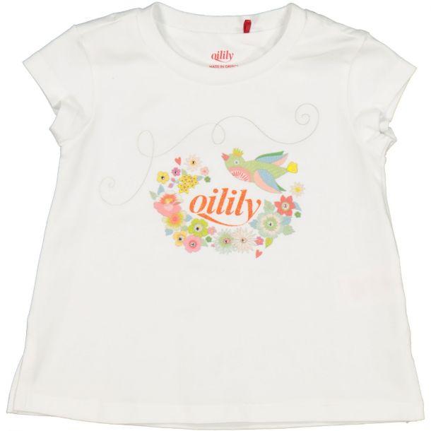 Girls Twinz White Logo T-shirt