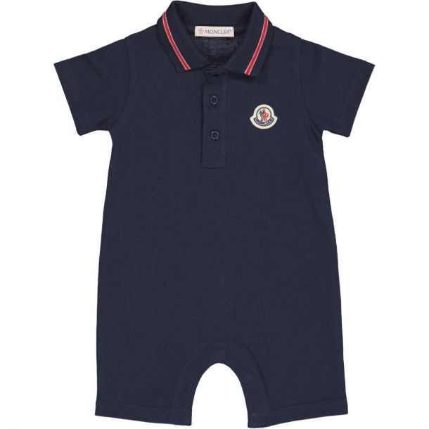 Baby Boys Navy Polo Romper