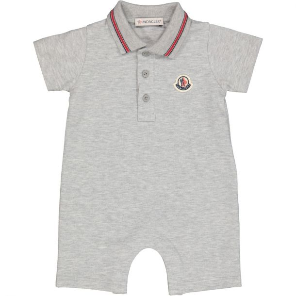 Baby Boys Grey Polo Romper