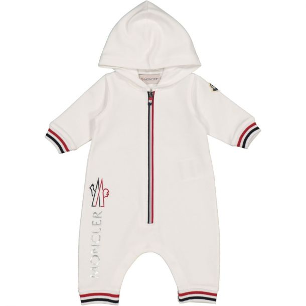 Baby White Hooded Romper