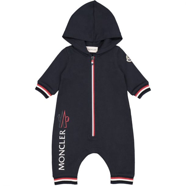 Baby Navy Hooded Romper