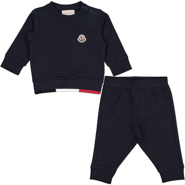 Baby Navy Cotton Tracksuit