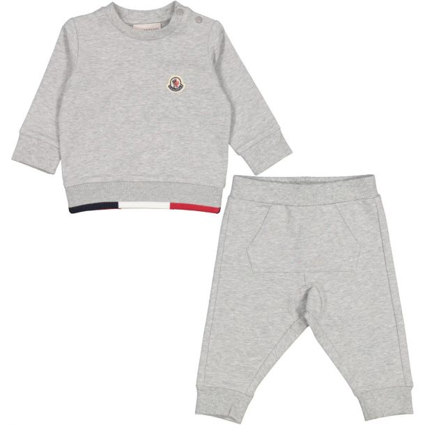 Baby Grey Cotton Tracksuit