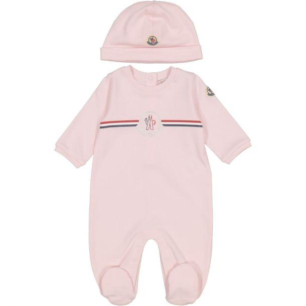 Baby Pink Romper & Hat Set