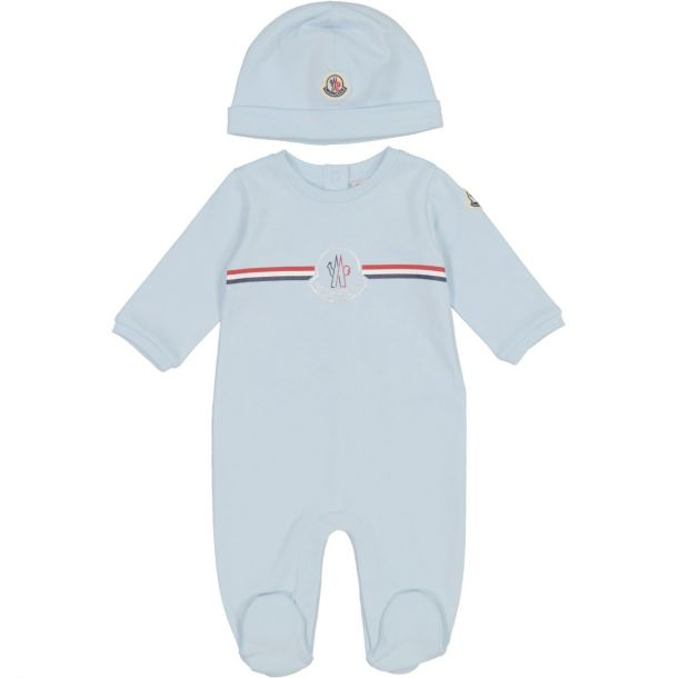 Baby Blue Romper & Hat Set