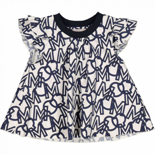Girls Navy & White Print Top