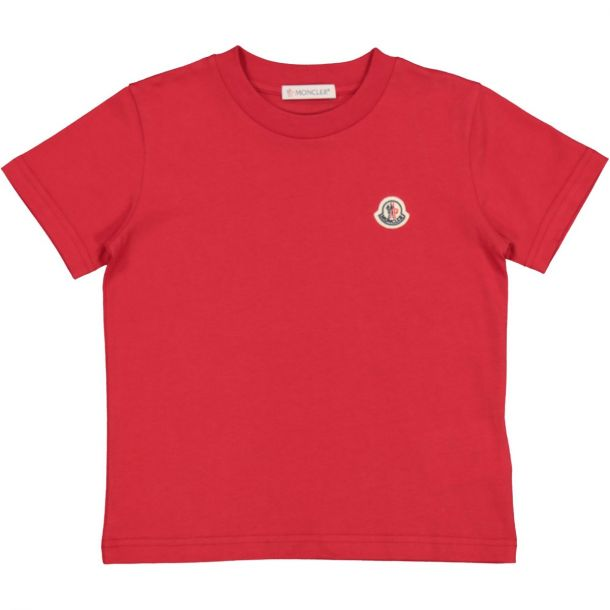 Red Cotton Logo T-shirt