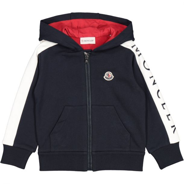 Boys Navy Branded Zip Up