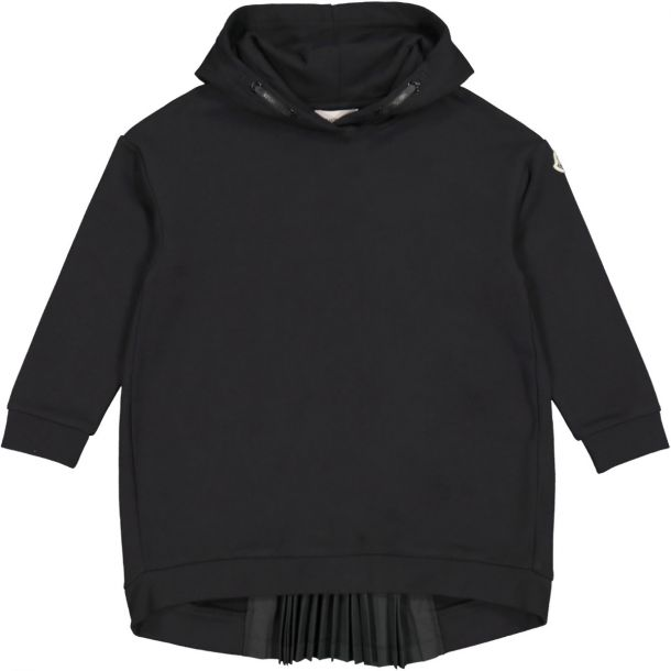 Girls Black Sweatshirt Dress
