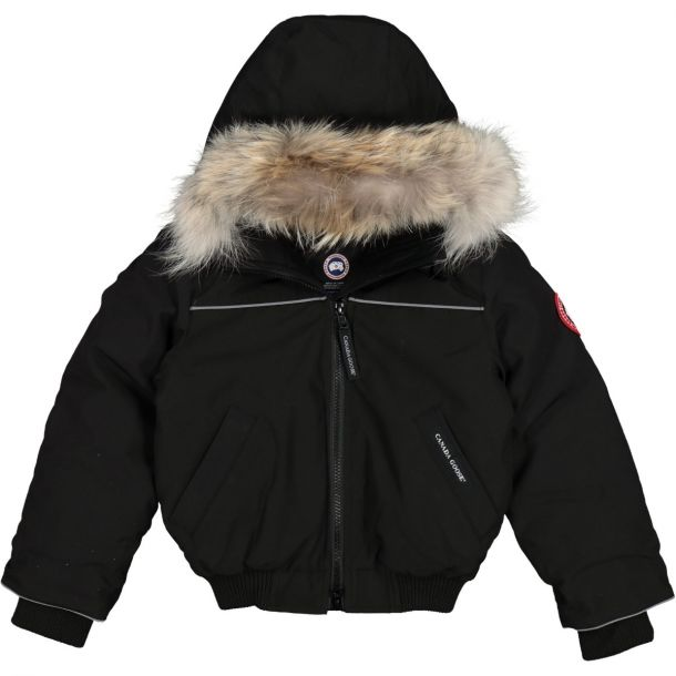 Boys Black Grizzly Bomber