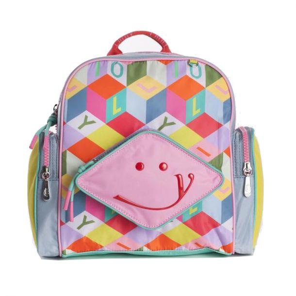 Girls Colour Block Backpack