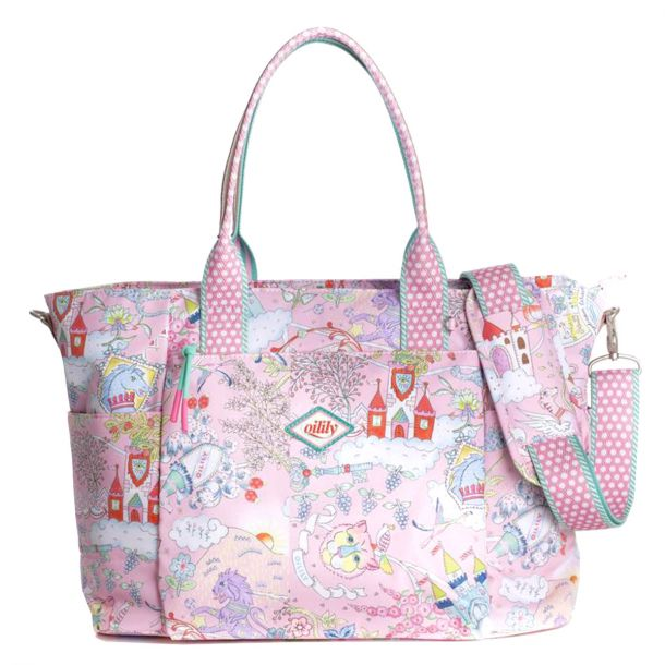 Pink Print Changing Bag