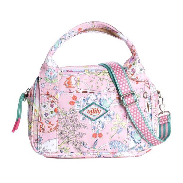 Girls Pink Print Handbag