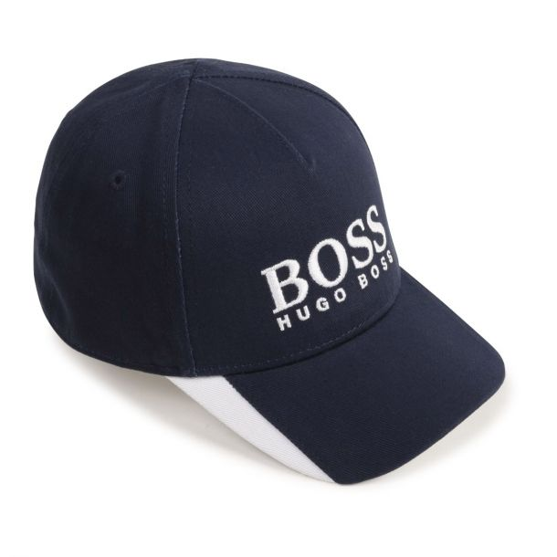 Baby Boys Navy Branded Cap