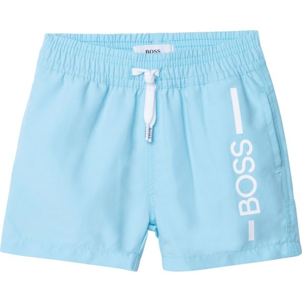 Baby Boys Pale Blue Logo Swim
