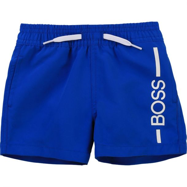 Baby Boys Blue Logo Swim Short