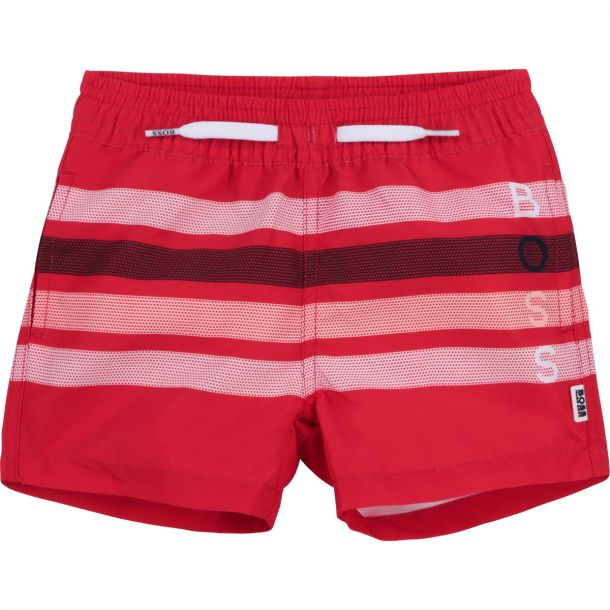 Baby Boys Red Stripe Swim Short