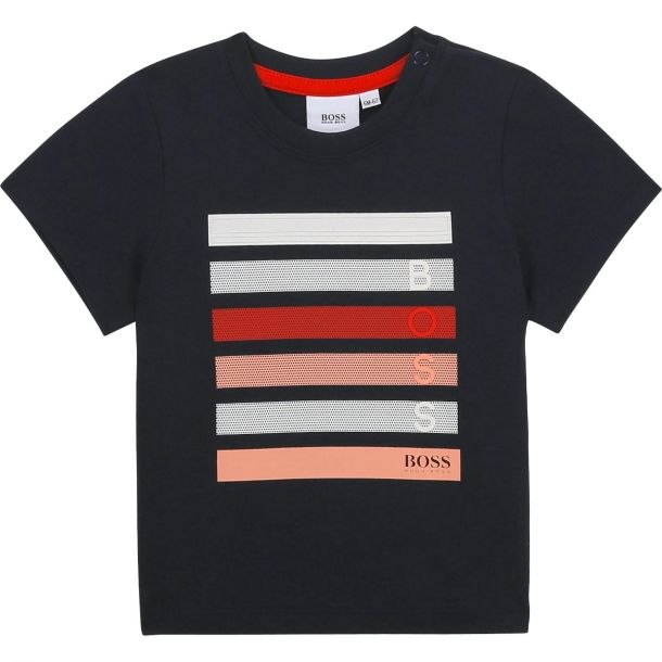 Baby Boys Navy Branded T-shirt
