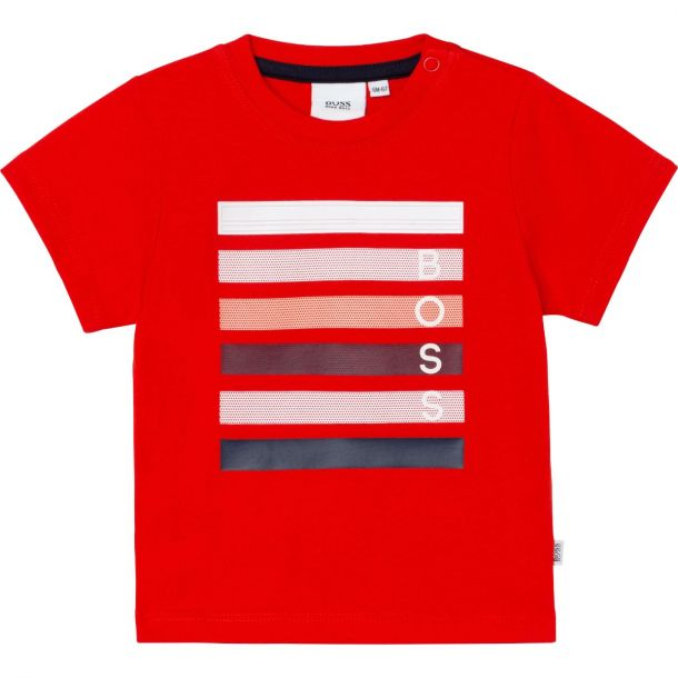 Baby Boys Red Branded T-shirt