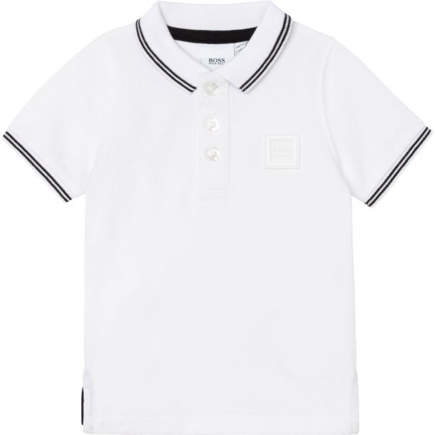 Baby Boys White Polo Top
