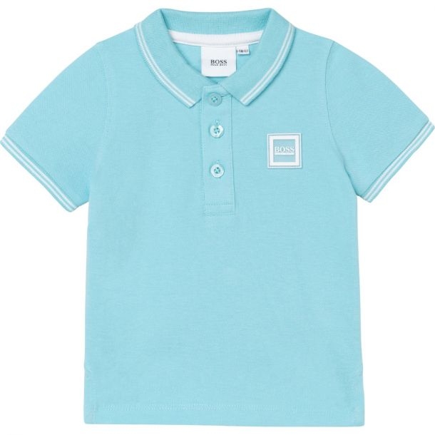 Baby Boys Pale Blue Polo Top