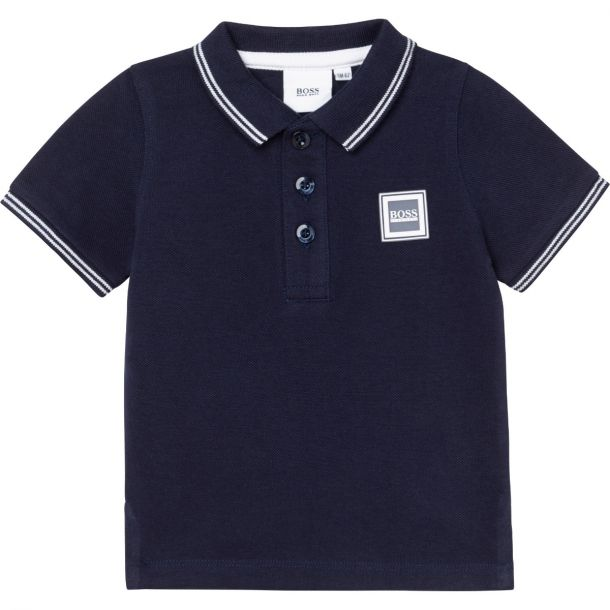 Baby Boys Navy Polo Top