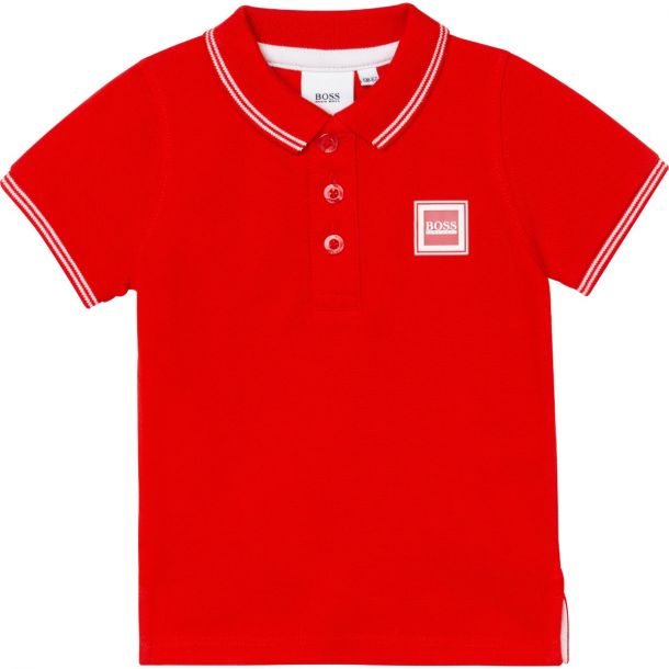 Baby Boys Red Polo Top