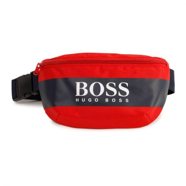 Boys Red Logo Belt Bag