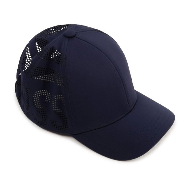 Boys Navy Branded Cap