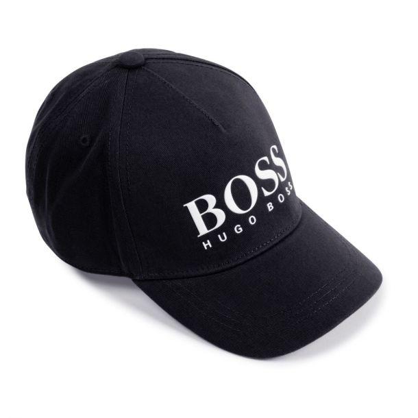 Boys Black Boss Logo Cap