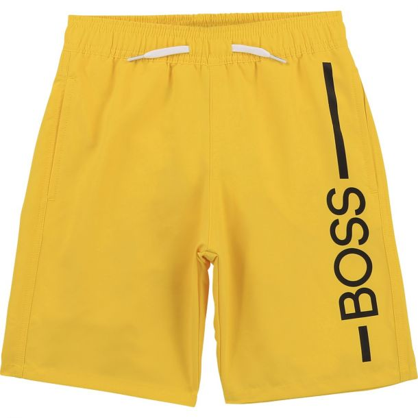 Boys Yellow Boss Swim Shorts
