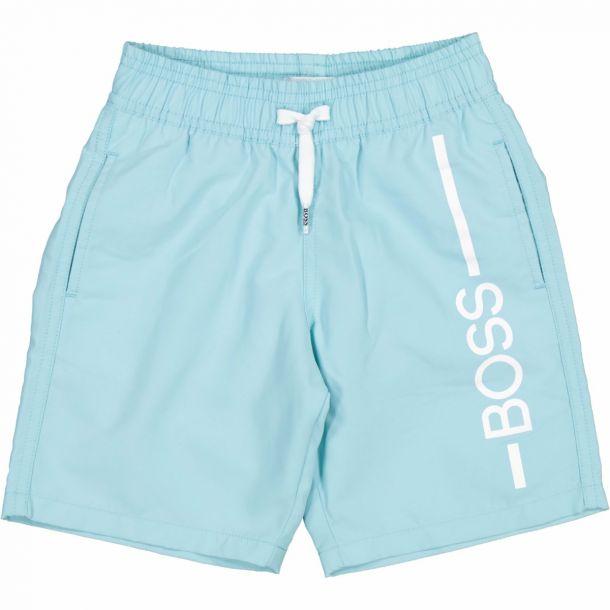 Boys Pale Blue Boss Swim Short