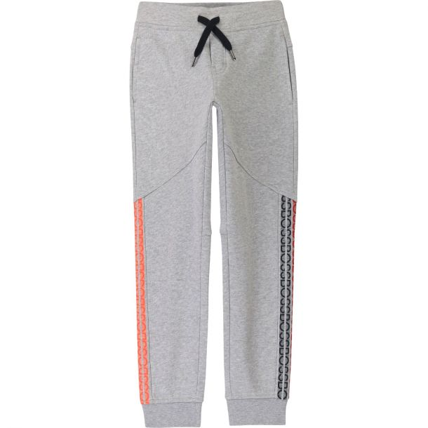 Boys Grey Branded Joggers