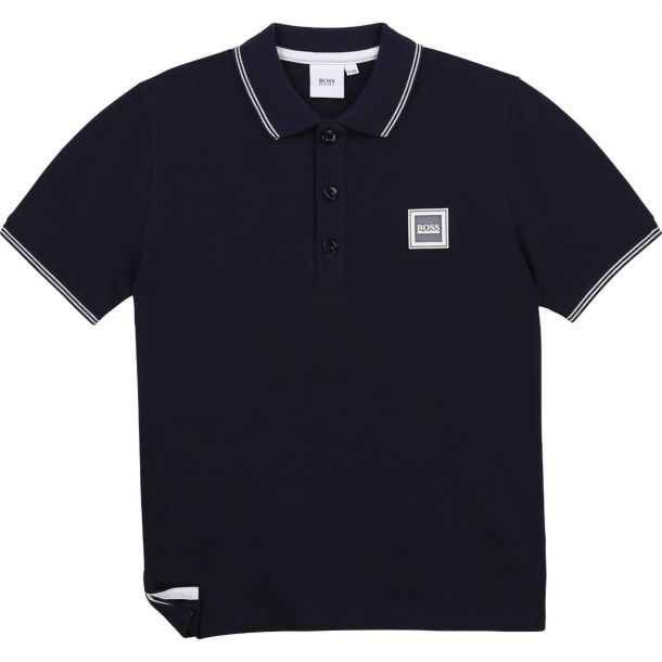 Boys Navy Logo Polo Top