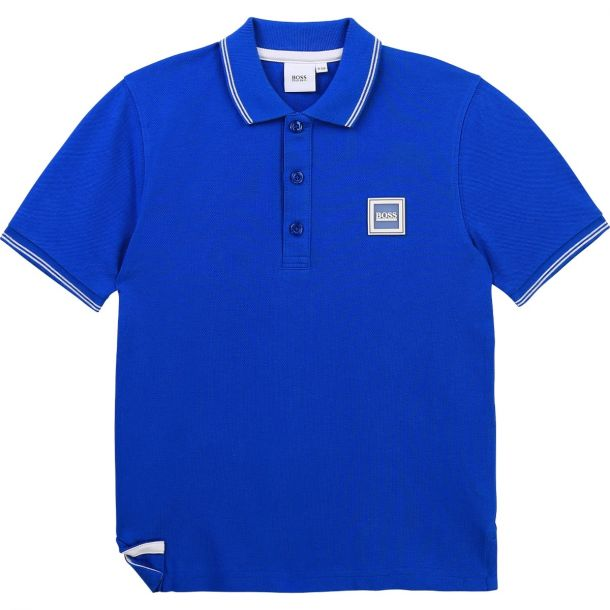 Boys Blue Logo Polo Top