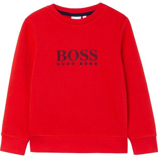 Boys Red Logo Sweatshirt