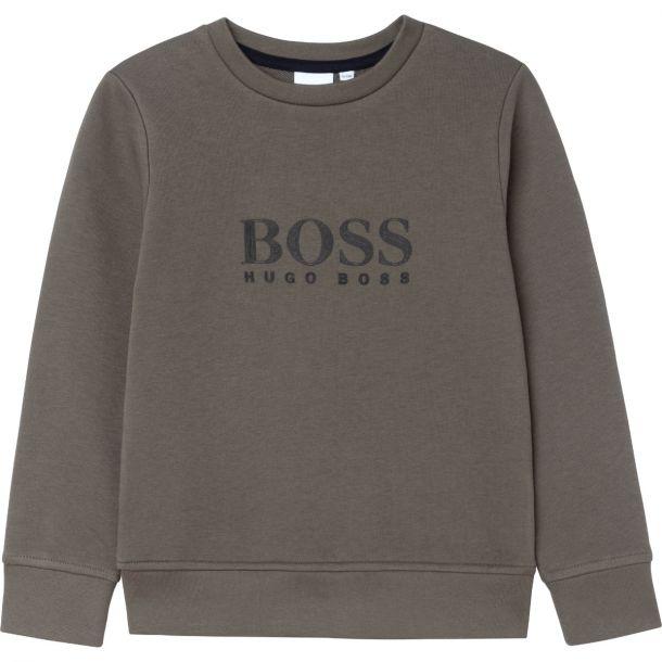 Boys Khaki Logo Sweatshirt