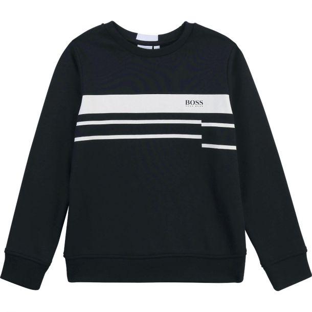 Boys Navy Branded Sweatshirt