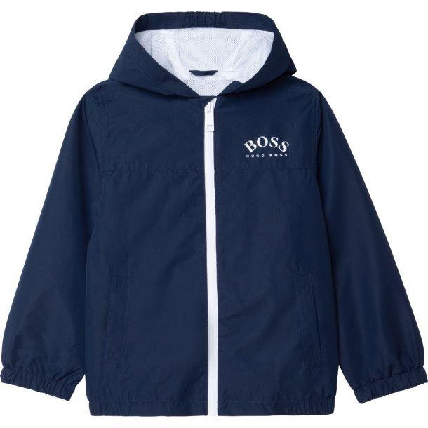 Boys Navy Windbreaker Jacket