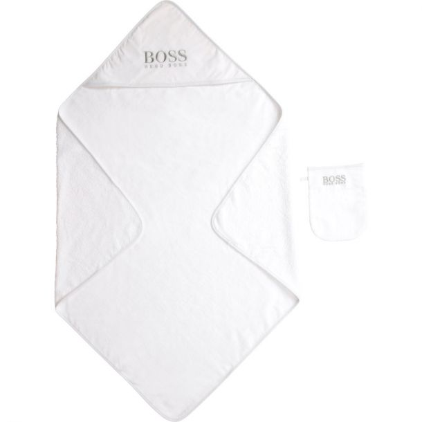 Baby White Logo Towel Set