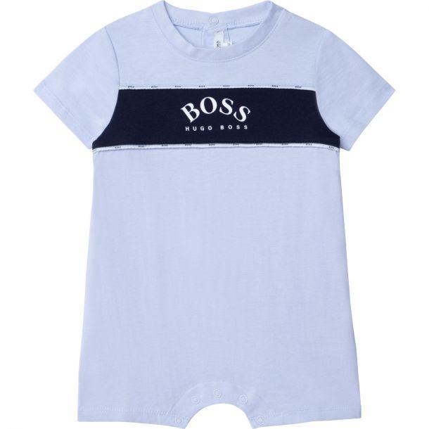 Baby Boys Blue Logo Shortie