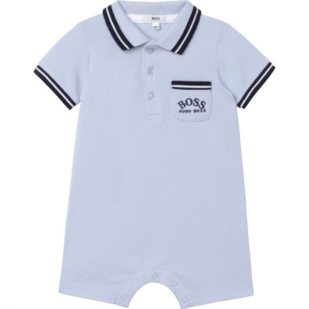 Baby Boys Blue Polo Shortie