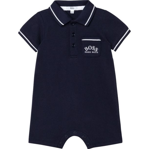 Baby Boys Navy Polo Shortie