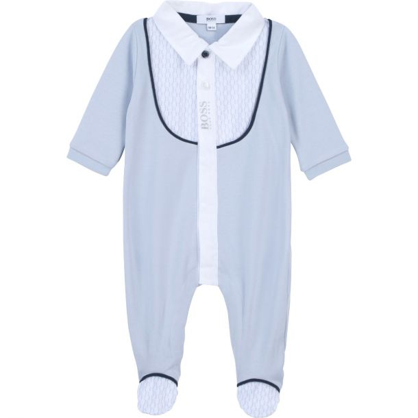 Baby Boys Blue Shirt Romper