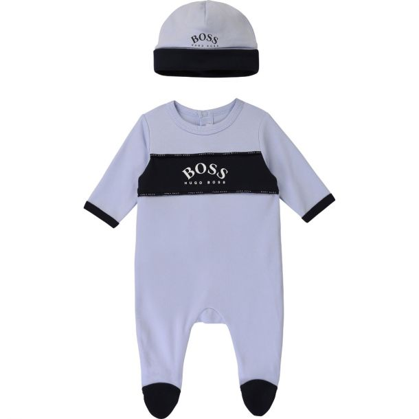 Baby Boys Blue Romper & Hat