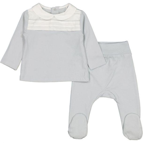 Baby Grey Cotton 2 Piece Set