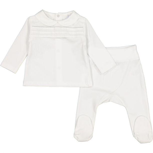 Baby White Cotton 2 Piece Set