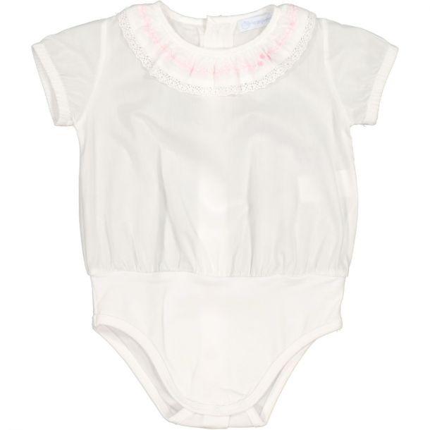 Baby Girls White Bodyvest